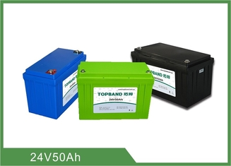 Pollution Free Lithium Iron Phosphate Battery 50ah , 24v Rechargeable Ups Replacement Batteries